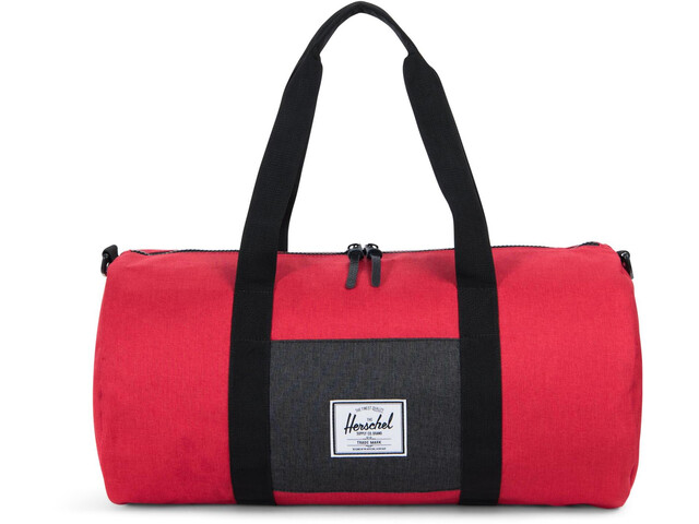 Herschel Sutton Mid-Volume Duffelilaukku, barbados cherry crosshatch/black crosshatch
